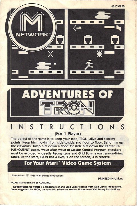 Adventures of Tron (Manual)