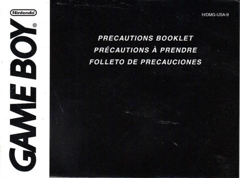 Gameboy – Precautions Booklet