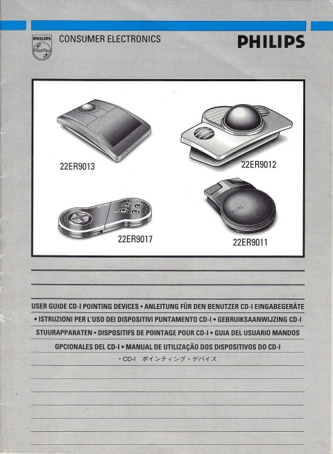 Philips CDi – Pointing Devices (Manual)