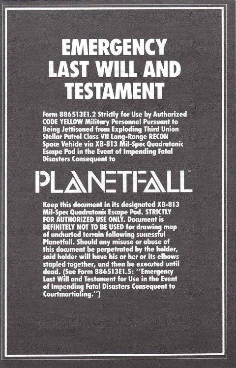 Planetfall (Manual)