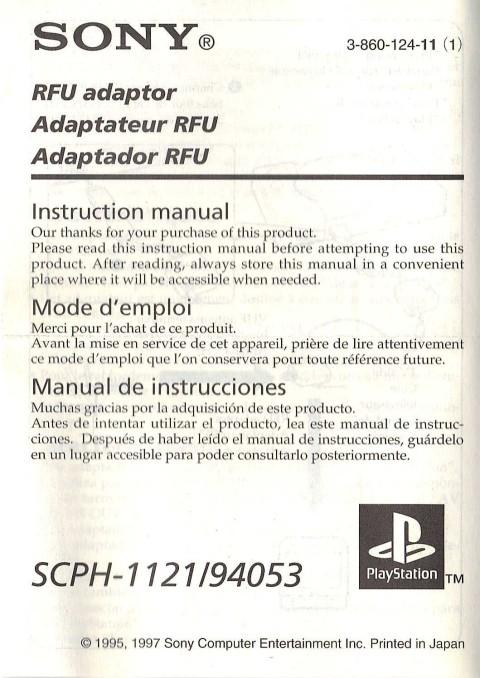 Sony Playstation RFU Adapter (Manual)