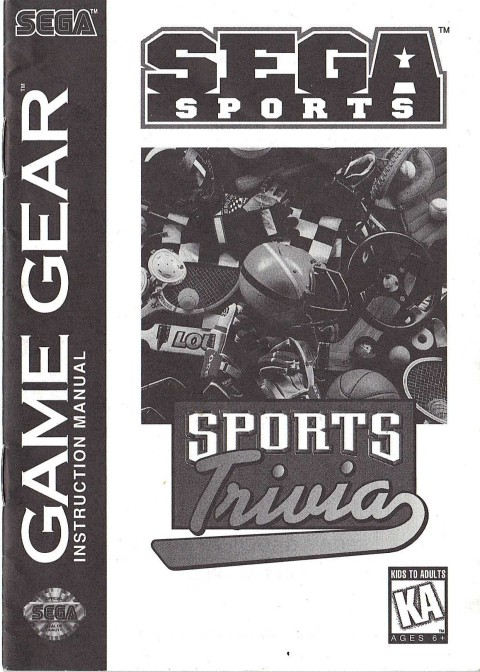 Sports Trivia – Game Gear (Manual)