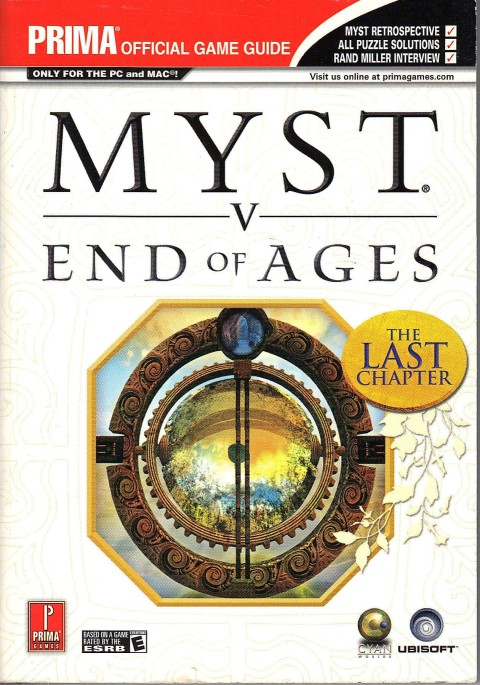Myst V – End of Ages (Strategy Guide)