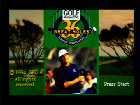 36 Great Holes (Sega 32x)