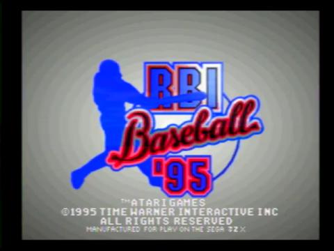 RBI Baseball 95 (Sega 32x)