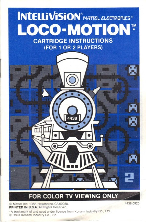 Locomotion (Intellivision Manual)