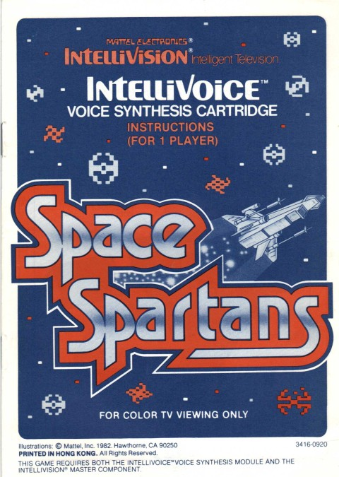 Space Spartans (Intellivision Manual)