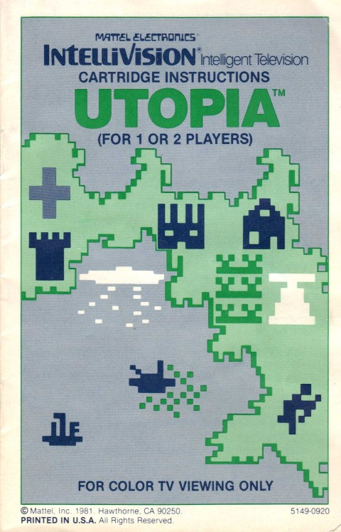 Utopia (Intellivision Manual)