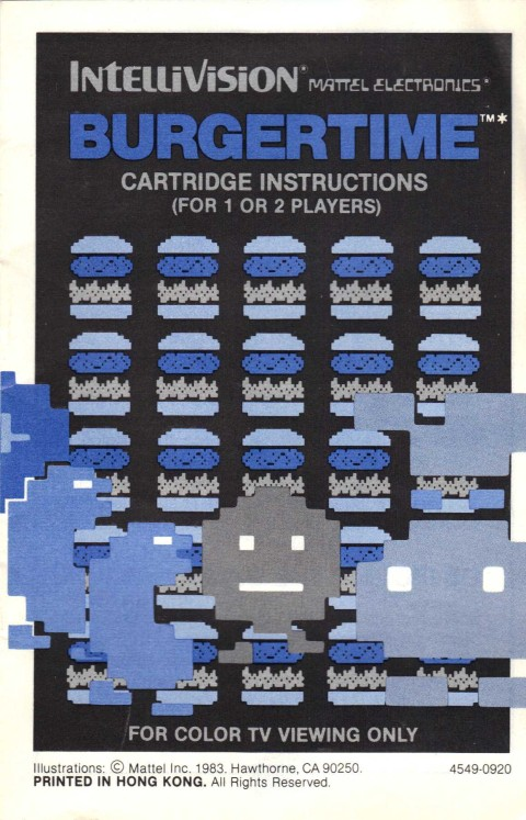 Burgertime (Intellivision Manual)
