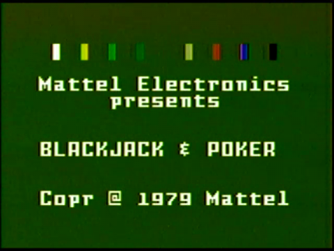 Blackjack & Poker (Intellivision)