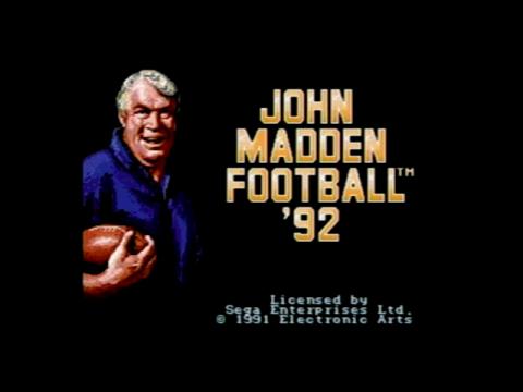 John Madden Football 92 (Sega Genesis)