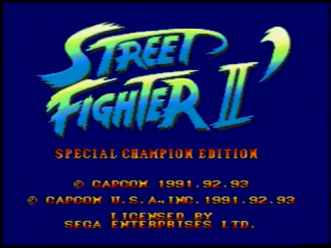 Street Fighter II – Special Champion Edition (Sega Genesis)