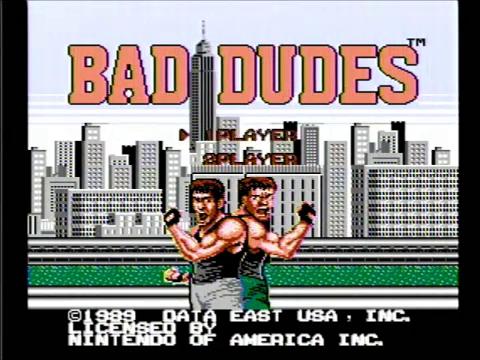 Bad Dudes (NES)