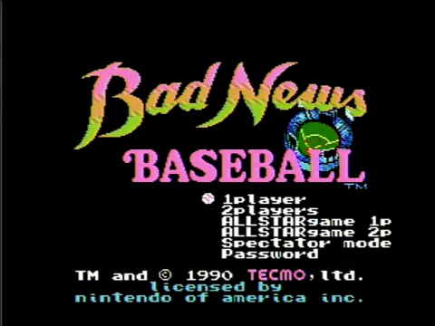 Bad News Baseball (NES)
