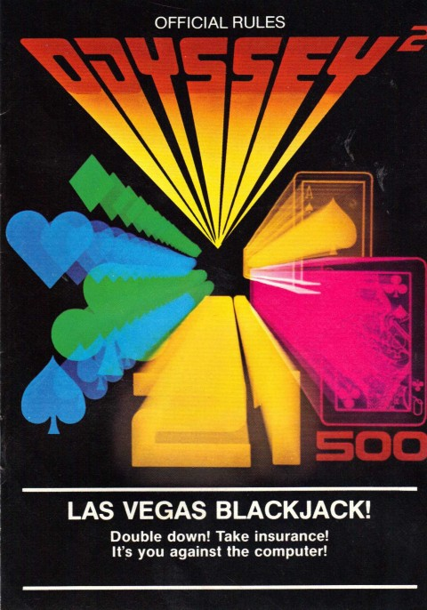 Las Vegas Blackjack (Odyssey 2 Manual)
