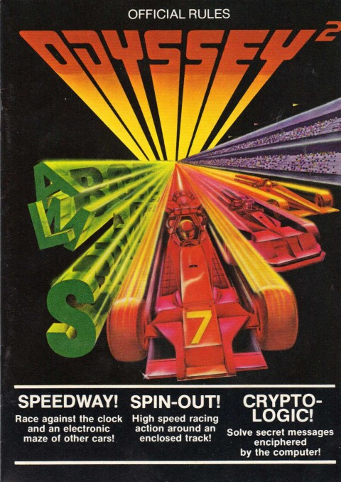 Speedway Spin-Out Crypto-Logic (Odyssey 2 Manual)