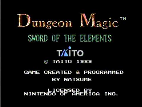 Dungeon Magic: Sword of the Elements (NES)