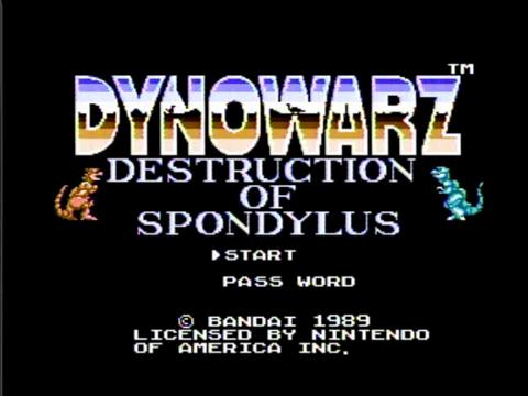 Dynowarz: Destruction of Spondylus (NES)