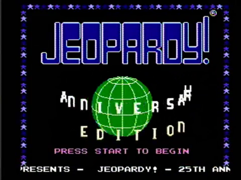 Jeopardy! Anniversary Edition (NES)