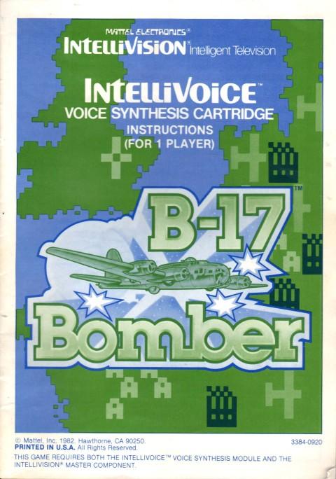 B-17 Bomber (Intellivision Manual)
