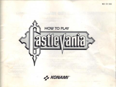Castlevania (NES Manual)