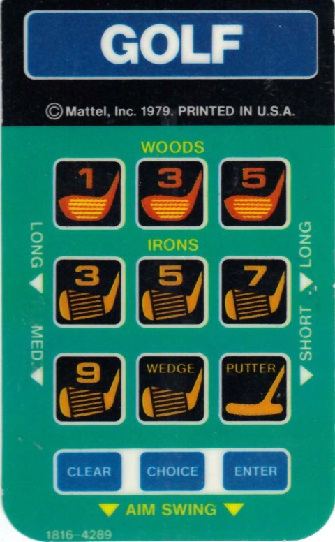 PGA Golf (Intellivision Insert)