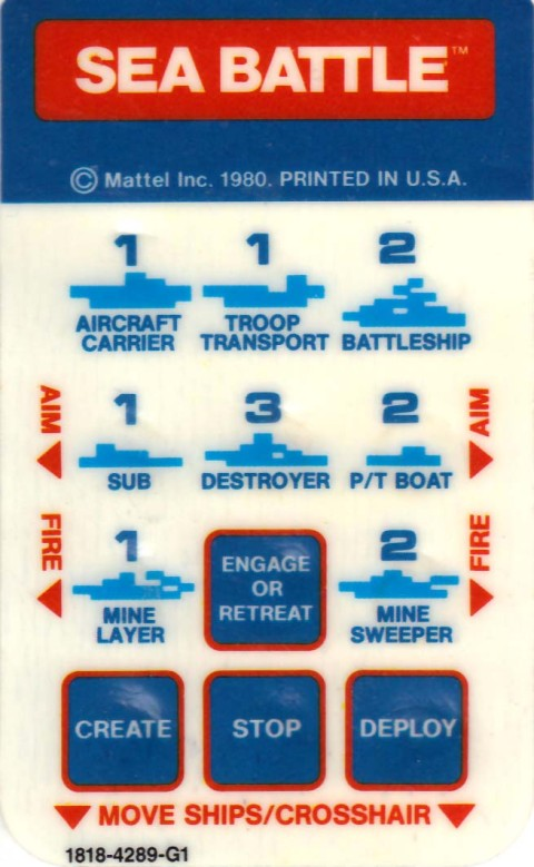 Sea Battle (Intellivision Insert)