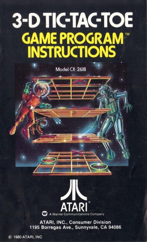 3-D Tic-Tac-Toe (Manual)