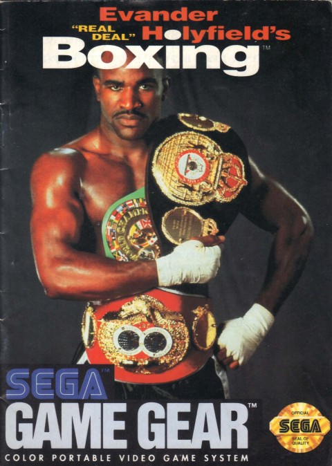 Evander Holyfields Boxing (Game Gear Manual)