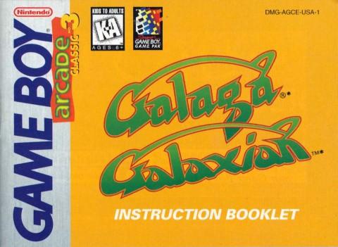 Galaga & Galaxian (Gameboy Manual)
