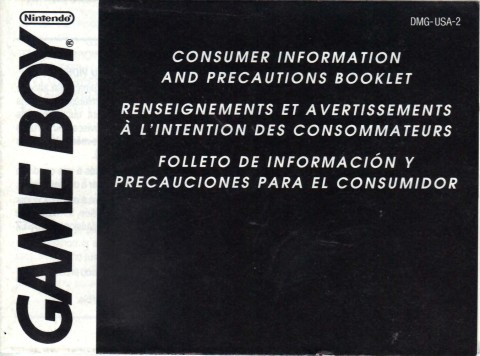 Gameboy Precautions Booklet (Manual)