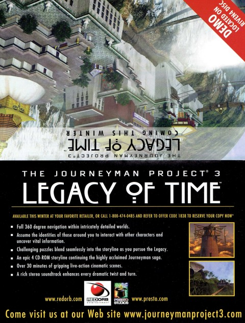 Journeyman Project 3 – Legacy of Time – Demo Flyer