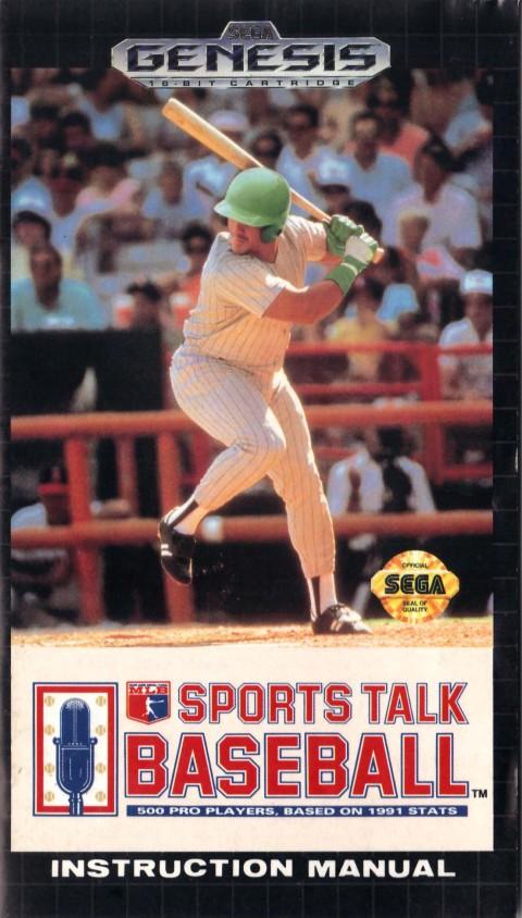 MLB Sports Talk Baseball (Genesis Manual)