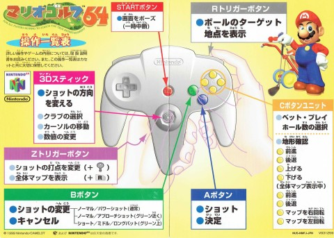 Mario Golf 64 (Japan Reference Card)