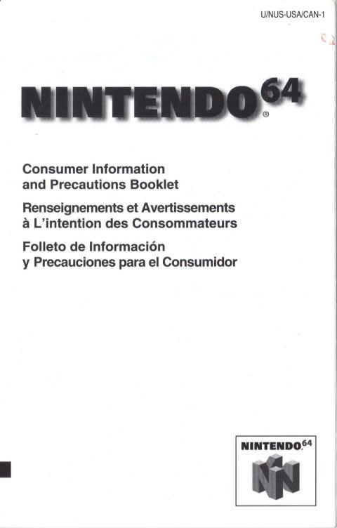 Nintendo 64 – Precautions Booklet (Manual)