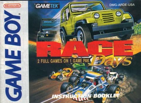Race Days (Gameboy Manual)