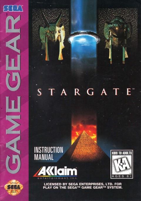 Stargate (Game Gear Manual)