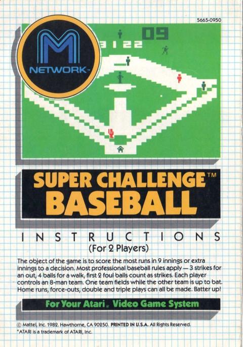 Super Challenge Baseball (Manual)