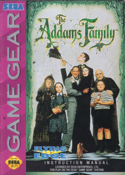The Addams Family (Game Gear Manual)