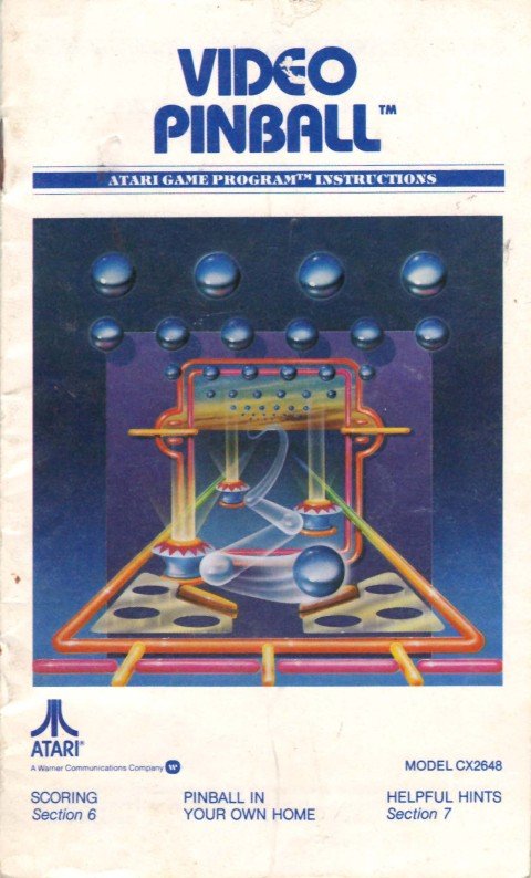 Video Pinball (Mini Manual)
