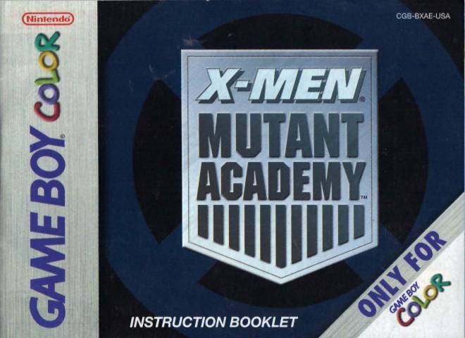 X-Men – Mutant Academy (GBC Manual)