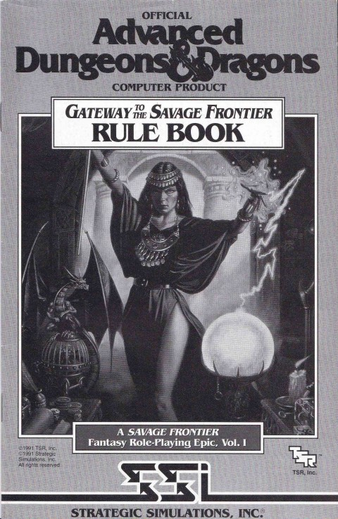 AD&D – Gateway to the Savage Frontier (Rule Book)
