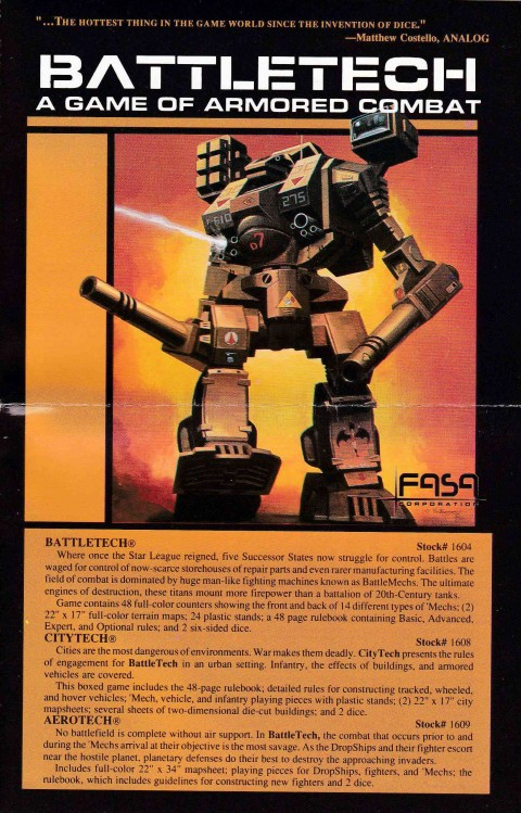 Battletech (Game Sheet)