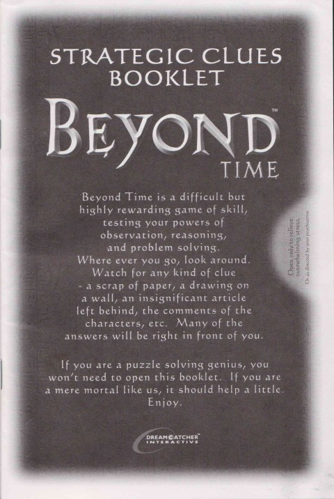 Beyond Time (Strategy Booklet)