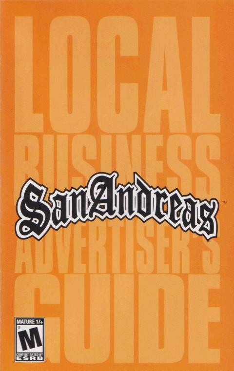 GTA – San Andreas (PS2 Manual)