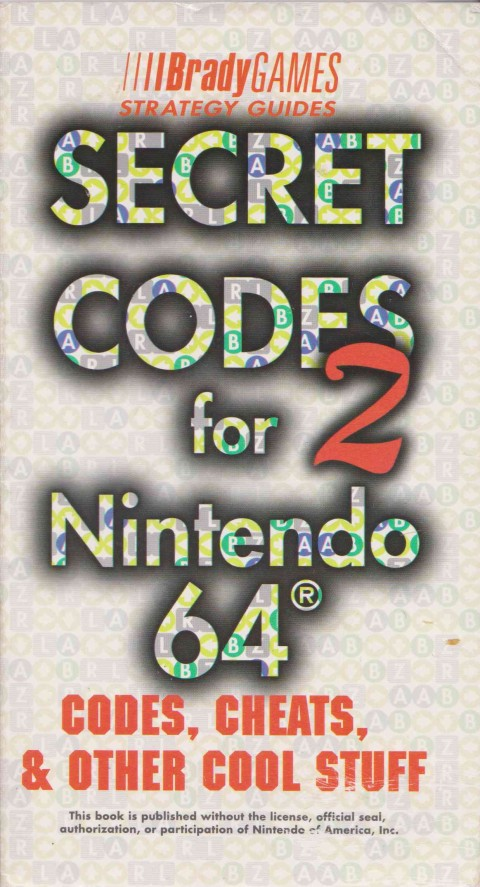 Secret Codes 2 for Nintendo 64 (Strategy Guides)