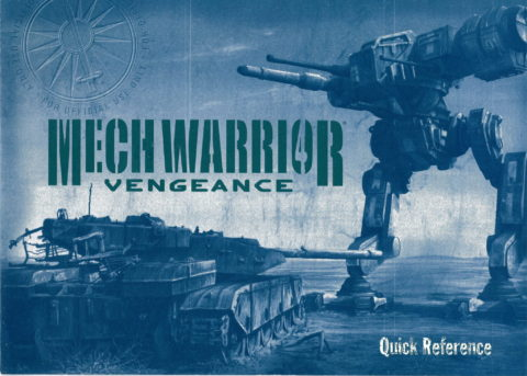 Mechwarrior Vengeance (Reference Card)