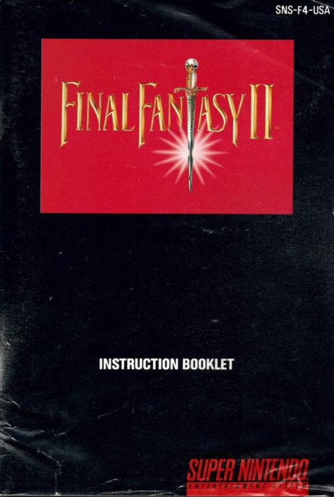 Final Fantasy II (SNES Manual)