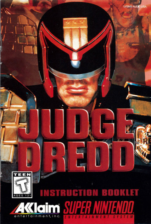 Judge Dredd (SNES Manual)