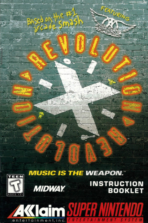 Revolution X (SNES Manual)